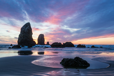 """Cannon Beach in Motion""  And what a sunset it was! Taken at Cannon Beach, Oregon, USA."