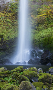 """Oh! Elowah!""  Elowah Falls. I hiked up there a couple times, as I just couldn't get enough of this one. Taken in the Columbia River Gorge National Scenic Area, Oregon, USA."