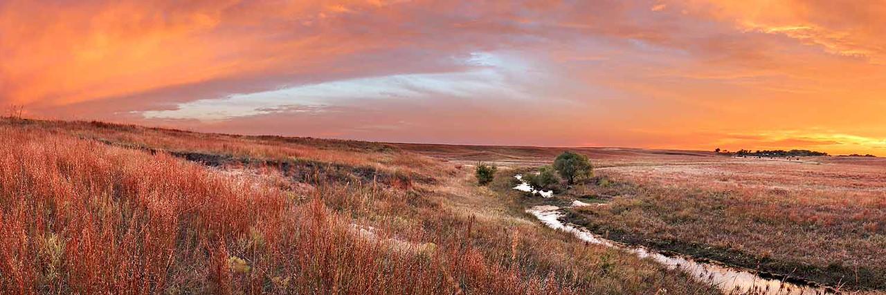 Sundown on Petyt Creek