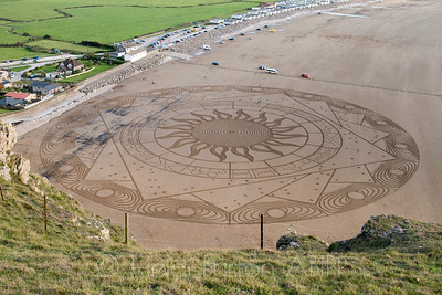 The Ring of Anhur sand drawing by Simon Beck