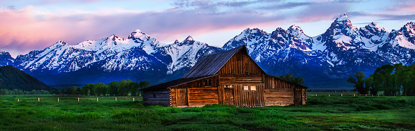 Mormon Row at Sunrise - Grand Teton National Park, WY