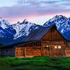 Mormon Row at Sunrise - Grand Teton National Park, WY