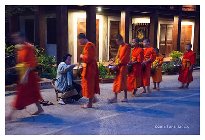 Tak Bat (Alms Giving) 2, Luang Prabang, Laos