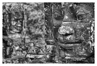Temple Faces, Ankor Complex, Siem Reap, Cambodia