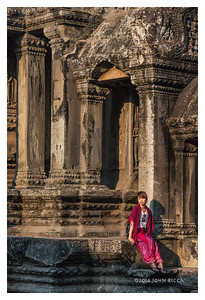 Tourist At Ankor Wat, Siem Reap, Cambodia