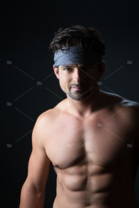 Young man with bandana