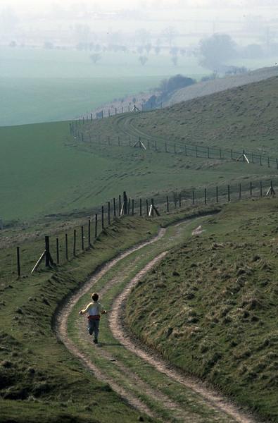 PB3 - England, Boy on Country lane, near Bath
