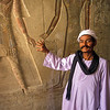 PB 2 - Tour Guide and Hieroglyphics, Valley of the Kings, Egypt
