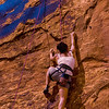 PA 94 - Female rock climber, Moab, Utah
