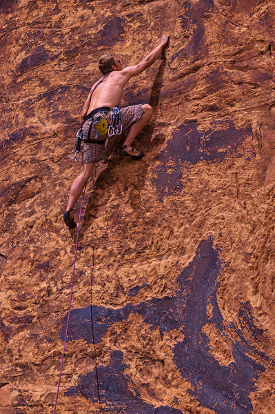 PA 77 - Male rock climber, Moab, Utah