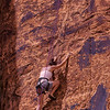 PA 88 - Female rock climber, Moab, Utah