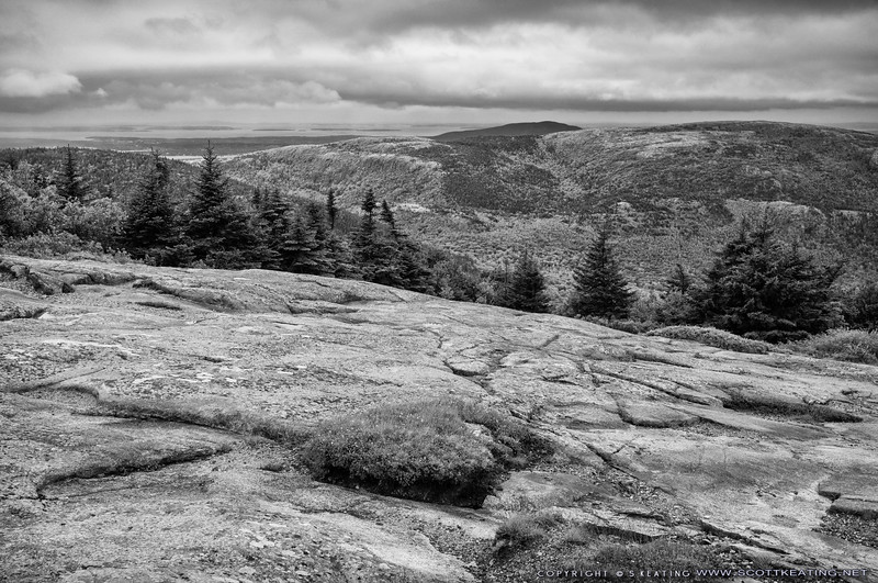 Western view toward Blue Hill from Cadillac Mountain - Acadia National Park, Maine