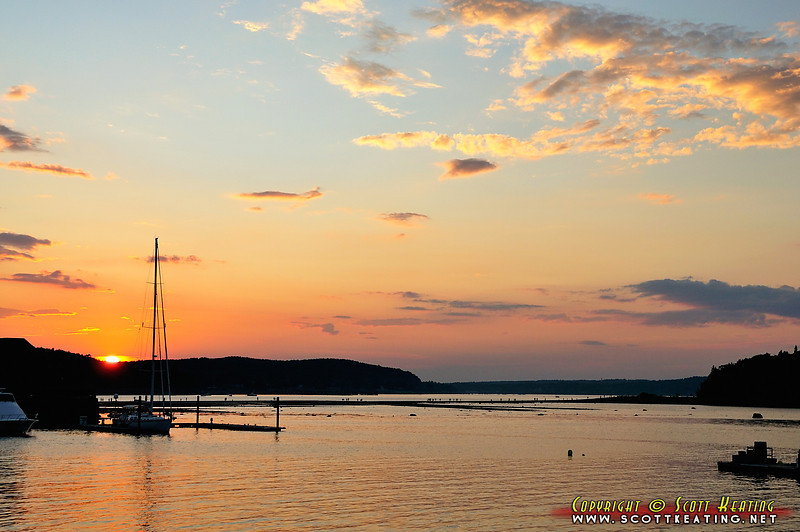 Sunset at Bar Harbor, Maine