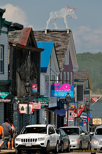 Shops and restaurants - Bar Harbor, Maine