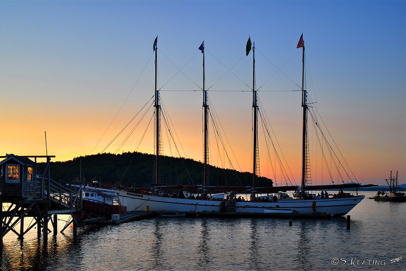"The Schooner ""Margaret Todd"" at sunset - Bar Harbor, Maine"