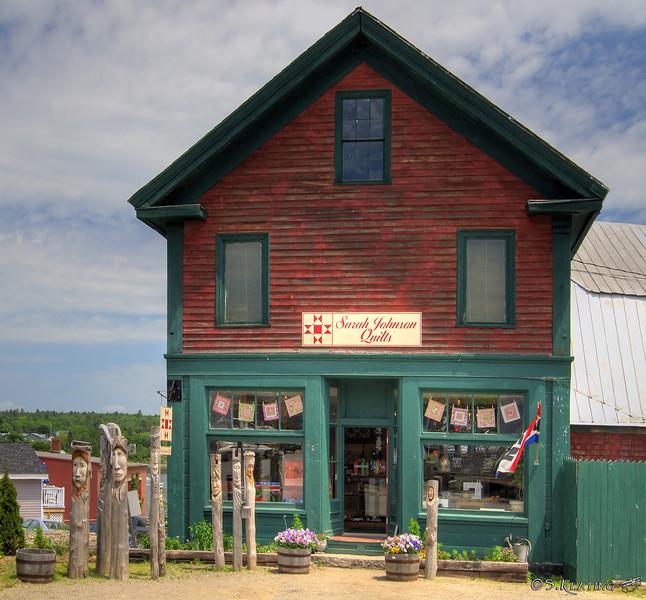 Sarah Johnson Quilts shop - Belfast, Maine