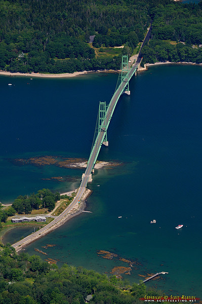 Deer Isle Bridge across Eggemoggin Reach between Sedgewick and Deer Isle, Maine