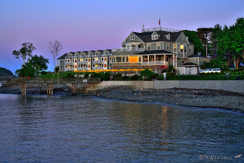Bar Harbor Inn at sunset - Bar Harbor, Maine