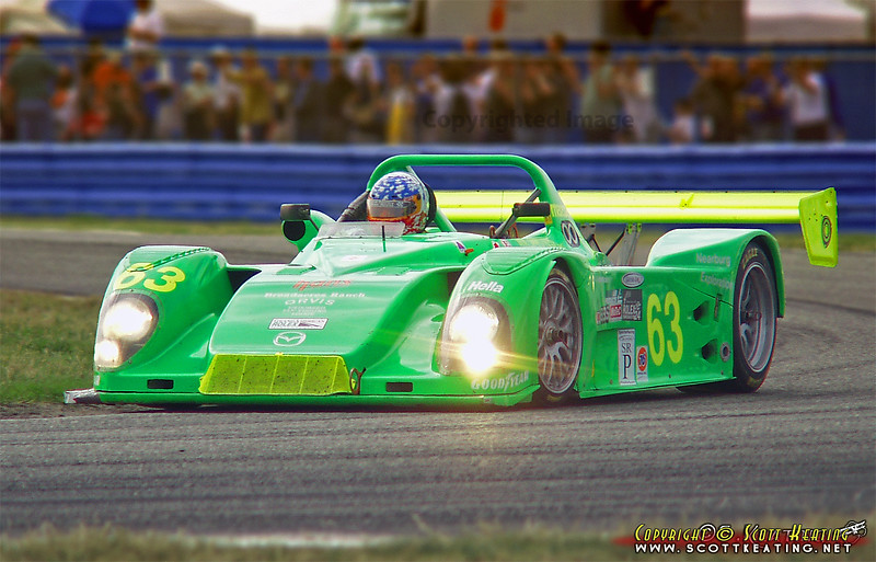 Jim Downing/Downing Atlanta's Mazda Kudzu, late afternoon of the 24 Hours of Daytona, January 2002