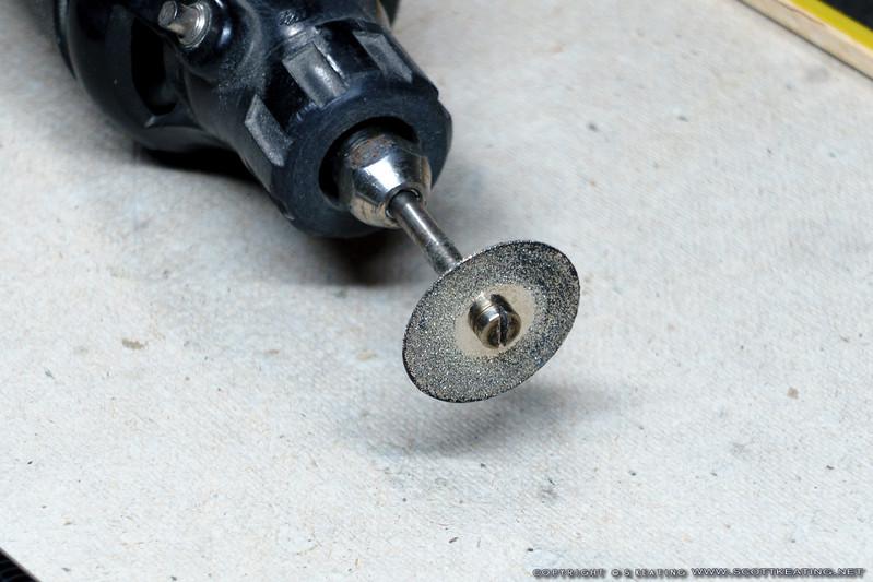 "Diamond cutting wheel from Harbor Freight (""Diamond Life"" #31501)"