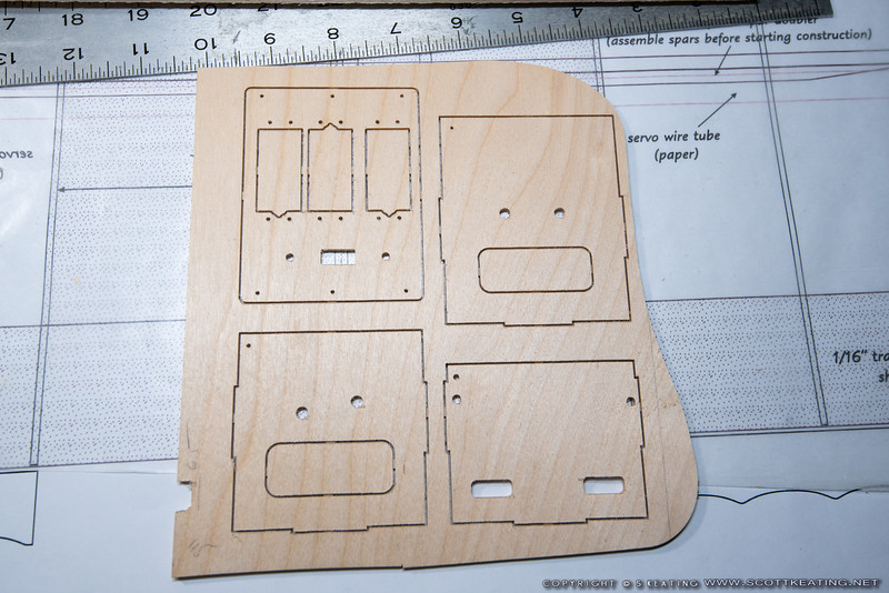 Fuselage formers and servo plate