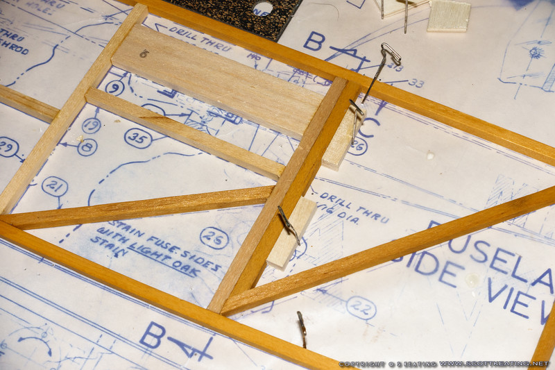 """Adding an addition 3/16"""" vertical piece to support the covering behind the #26 plywood skin."""