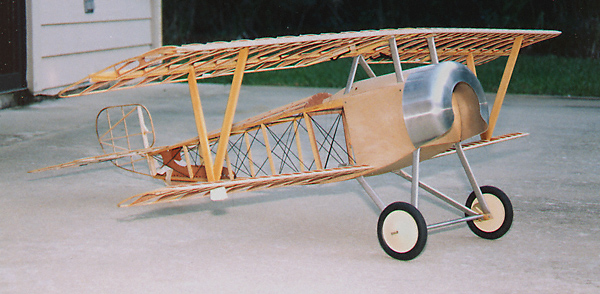 Nearly completed Nieuport 11.  The construction is nearly identical to the Antic.