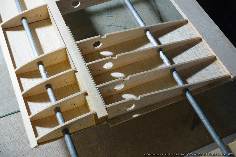 Building the inboard wing section in the jig