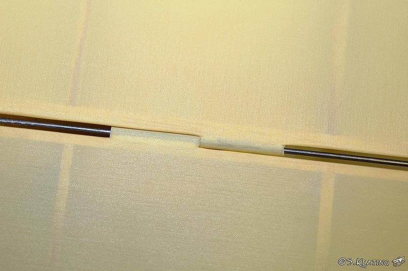 Aileron hinge detail