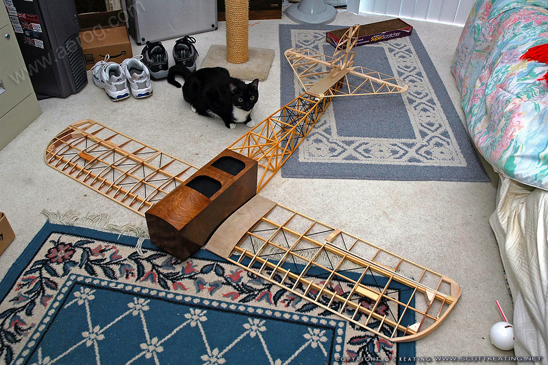 Fuselage and wings put together for the first time