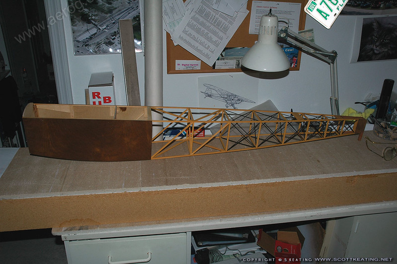 Fuselage framed and foreward plywood stained as mahogany