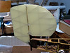 Antic Bipe Rudder/Vertical Stab, Covered with Antique Solartex