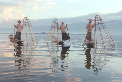 Three Inle Lake Fisherman - 2