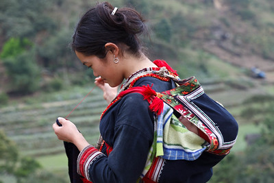 Rural Mother Embroidering