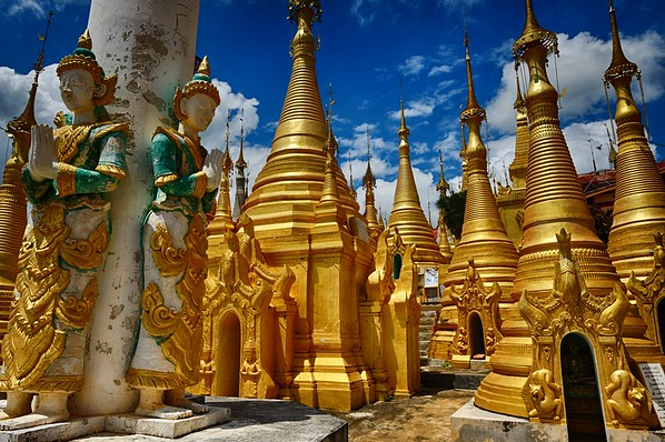 forest of stupas