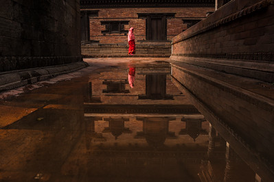 reflections in Bhaktapur