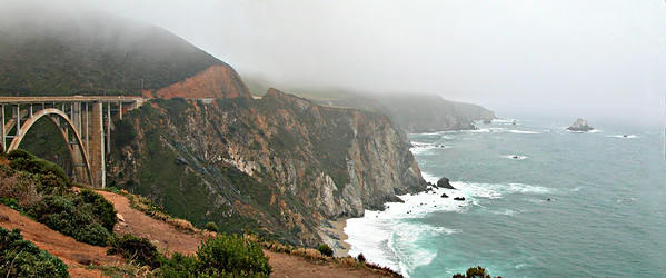 Bixby Bridge on the road to Big Sur, California