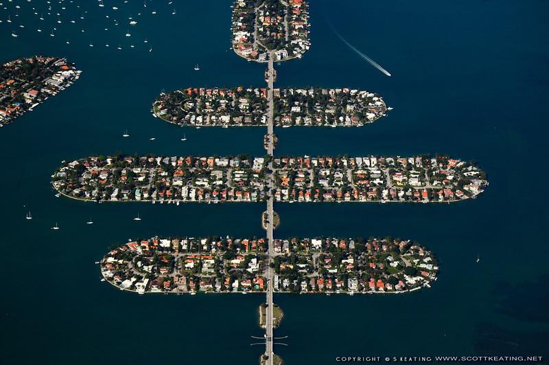 Venetian Causway, San Marino Island, Di Lido Island, and Rivo Alto Island - Miami Beach, FL