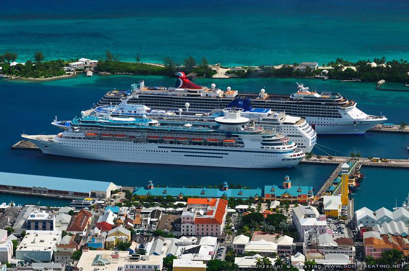 Cruise ships at Prince George Warf near Paradise Island - Nassau