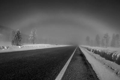 Snowbow over Highway 21, Idaho.