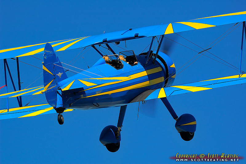 "1942 Boeing E75 ""Stearman""<br /> Suitable Sizes: 4x6, 8x12, 12x18, 20x30, 24x36 - Puzzles (with cropping)"