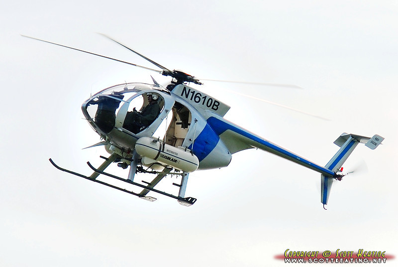 "<font size=""3"">MD-500E Mosquito Control Helicopter</font> <font size=""2"">Working the Tomoka River Basin in Volusia County, Florida</font> <i>Image suitable for small images up to 8x12</i>"