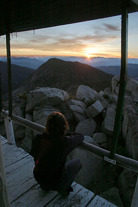 Lookout Mountain fire lookout, White Cloud Mountains, Idaho.