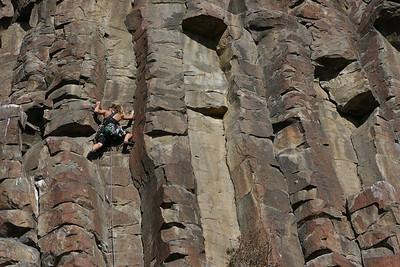 Melissa Arnot climbing at the Black Cliffs, Boise, Idaho.
