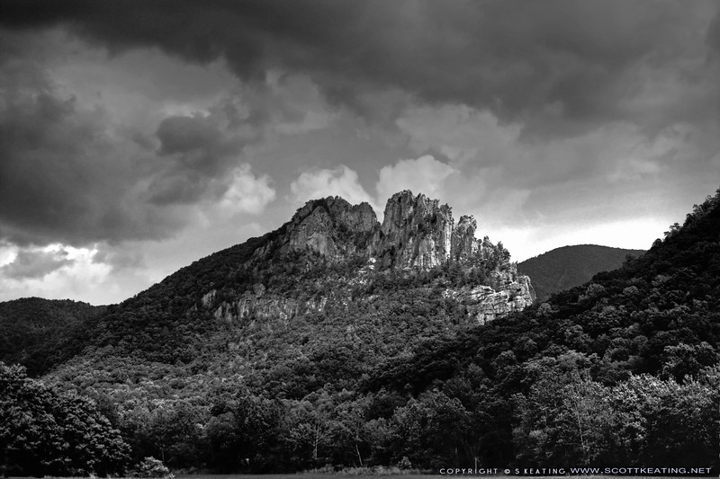 "Seneca Rocks & Thunderstorm - West Virginia<br /> Suitable Sizes: 4x6, 8x12, 12x18, 20x30, 30x40 (with cropping)<br /> <br /> Please specify ""true color"" when ordering"