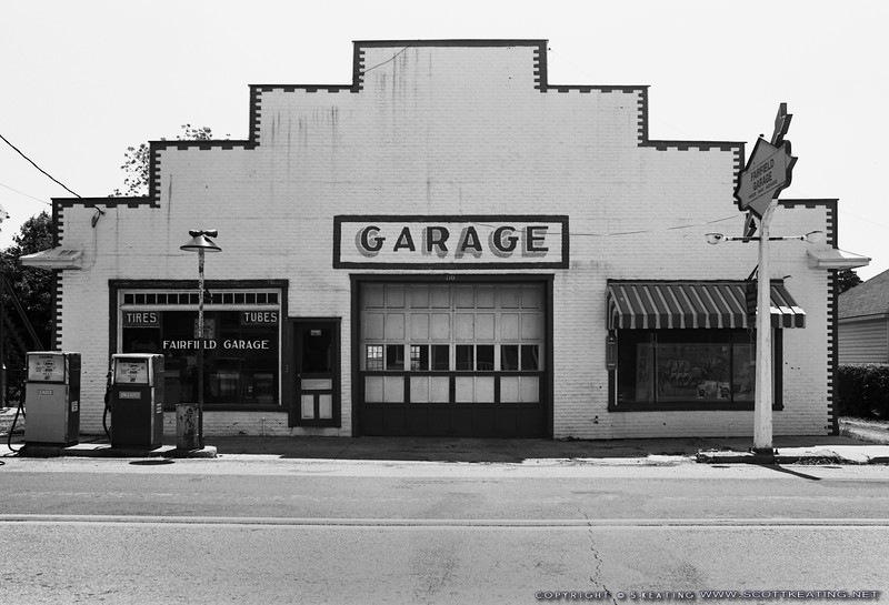 "Fairfield Garage, Fairfield PA<br /> Suitable Sizes: 4x6, 8x12, 12x18 - other sizes with careful cropping<br /> <br /> Please specify ""true color"" when ordering"