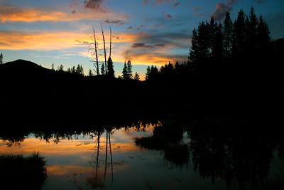 Beaver pond, central Idaho.