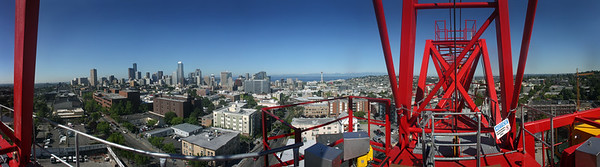 Seattle, from a Capitol Hill construction site.