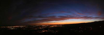 Boise, Idaho, twilight.