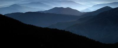 The White Cloud Mountains photographed from Lookout Mountain, central Idaho.